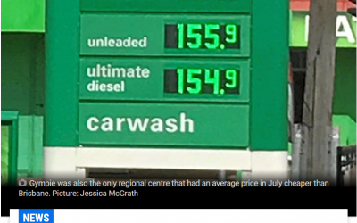 BREAKING: Gympie has the cheapest fuel in regional Qld